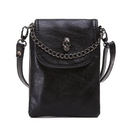 Skull Chain Mobile Phone Cross Body Messenger Bag Women