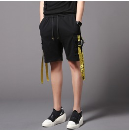 Mens Sweat Shorts Summer Solid Cotton Casual Pants