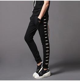 New Arrival Mens Black Sweatpants Skinny Sports Pants