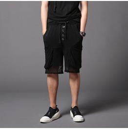 Summer Men's Shorts Casual Black Hip Hop Short Pants