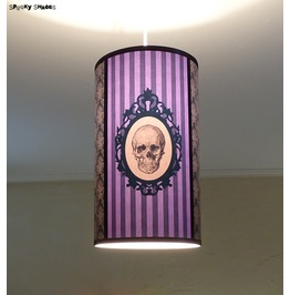Baroque Skull Purple Striped Pendant Lamp Shade Lampshade Gothic Decor