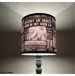 Roswell Alien Area 51 Scifi Newspaper Drum Table Lamp Shade Lampshade