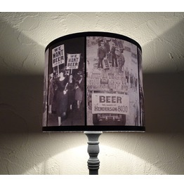 Prohibition Themed Drum Lamp Shade Lampshade, Roaring 20's, Alcohol, Beer