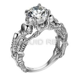 Rhinestone Skeleton Ring