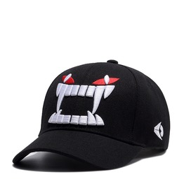 Unisex's Devil Eye And Mouth Teeth Embroideried Sports Baseball Cap Hat