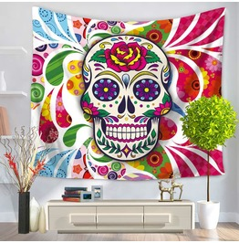 Unique Skull Print Wall Tapestries D28