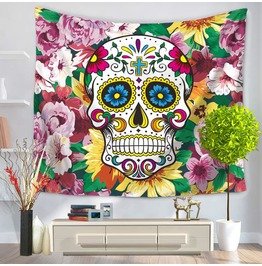Unique Skull Print Wall Tapestries D29