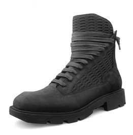 Men's Mesh Paneled Lace Up Martin Boots