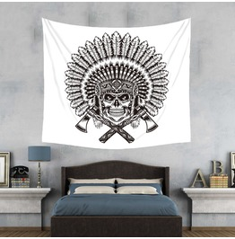 Unique Skull Print Wall Tapestries D33
