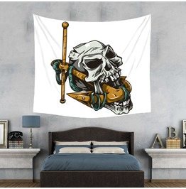 Unique Skull Print Wall Tapestries D36