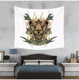 Unique Skull Print Wall Tapestries D37