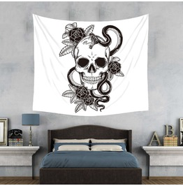 Unique Skull Print Wall Tapestries D40