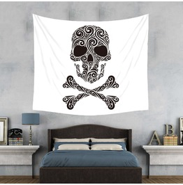 Unique Skull Print Wall Tapestries D41