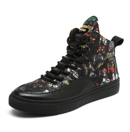 Men's Totems Printed Lace Up Martin Boots Faux Leather Boots