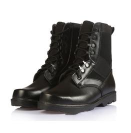 Men's Combat Boots Canvas Trim Lace Up Army Boots