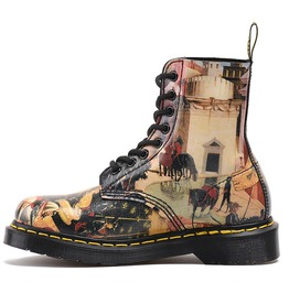 Fashion Oil Painting Printed 8 Eyes Martin Boots For Men/Women