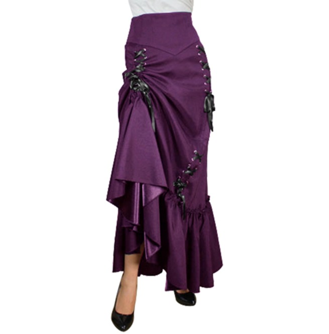 rebelsmarket_black_or_red_long_victorian_ruffle_gypsy_skirt_regand_plus_sizes_9_to_ship_skirts_2.jpg