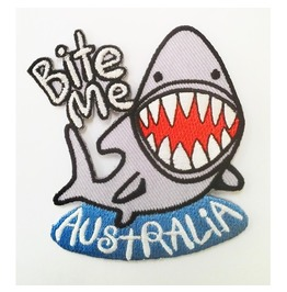 Shark Bite Me Australia Patch.