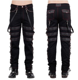 Goth Men Steampunk Pants Black Gothic Vintage Cotton Gens Trousers Pants