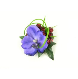Fascinator Mini Headpiece Hair Clip Orchid Silk Flower With Raspberries