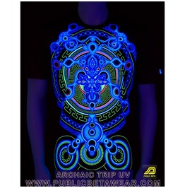 Archaic Trip Uv Blacklight Reactive T Shirt Mens