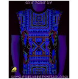Chip Point Uv Blacklight Reactive T Shirt Mens