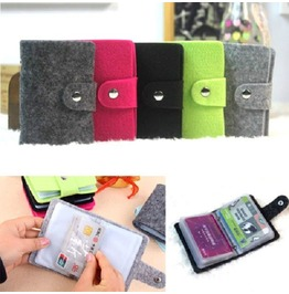 Fashion Retro Pouch Id Credit Card Wallet Cash Holder Organizer Case Pocket