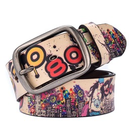 Hiphop Casual Charm Leather Unisex Belt