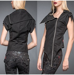 Women Phantom Top Gothic Black Cotton Shirt Women Vest Top