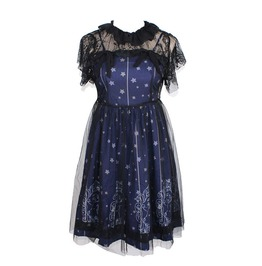Stars Constellation Gothic Lolita Veil Tunic Lace Dress