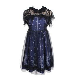Stars Constellation Gothic Lolita Veil Tunic Lace Dress