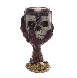 Rebelsmarket gothic stainless steel claw and skull warrior goblet wine glass glassware and bar 2