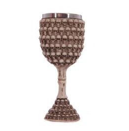 Rebelsmarket gothic stainless steel resin skulls goblet wine glass glassware and bar 3