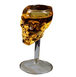 Transparent Skull Head Whiskey Goblet Wine Glass
