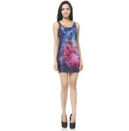 Polar Light Galaxy Dress Tank Tops