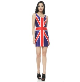 Flag Dress Tank Tops