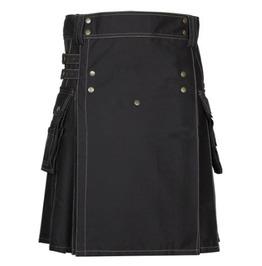 Custom Made Workmen's Cotton Cargo Utility Duty Fashion Kilt