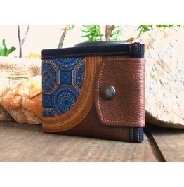 Mandala Handmade Personalized Wallet, Vegan Leather Wallet, Leather Wallet
