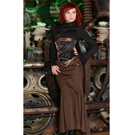 Steampunk Brown Fishtail Victorian Mermaid Skirt $9 Shipping Worldwide