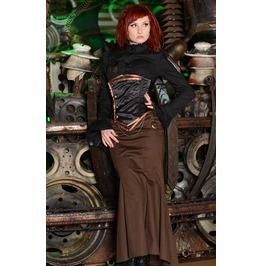 Steampunk Brown Fishtail Gothic Victorian Long Floor Length Mermaid Skirt