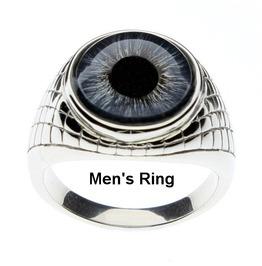 Human Blue Eye Ring |Human Blue Glass Eye|Unisex Ring| Men's Ring|Human Eye