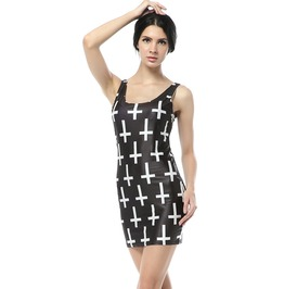 Gothic Punk Cross Dress Tank Tops