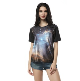 Black World Fantasy Galaxy Tee