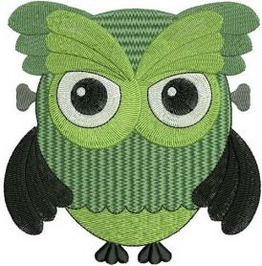 Embroidered Zombie Owl Patch Iron/Sew On