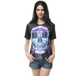 Gothic Punk Skull T Shirt