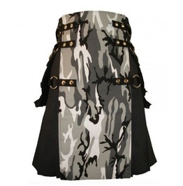 Military Grade Combat Utility Kilt With Cargo Pockets And Detachable Apron