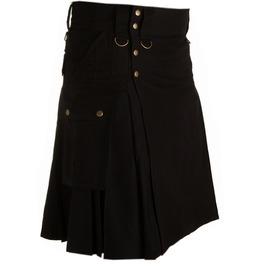 4 Pockets Cotton Utility Deluxe Kilt For Men Scottish Tactical Custom Kilt