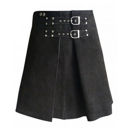 Roman Gladiator Warrior Leather Kilt Made To Measure Suede Lambskin Leather