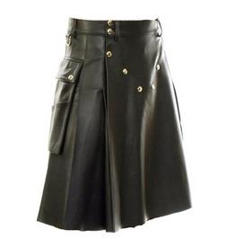 Men's Leather Made Kilt Skirt Custom Made
