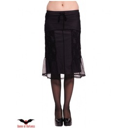 Gothic Knee High Skirt With Grey Underskirt And Gorgeus Lace All Over.